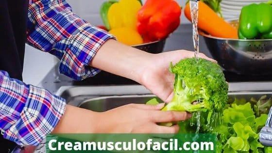Hay que lavar frutas y verduras