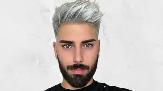 gris plateado hombre, como teñirse el pelo
