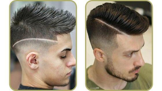 Corte degradado en el pelo con línea
